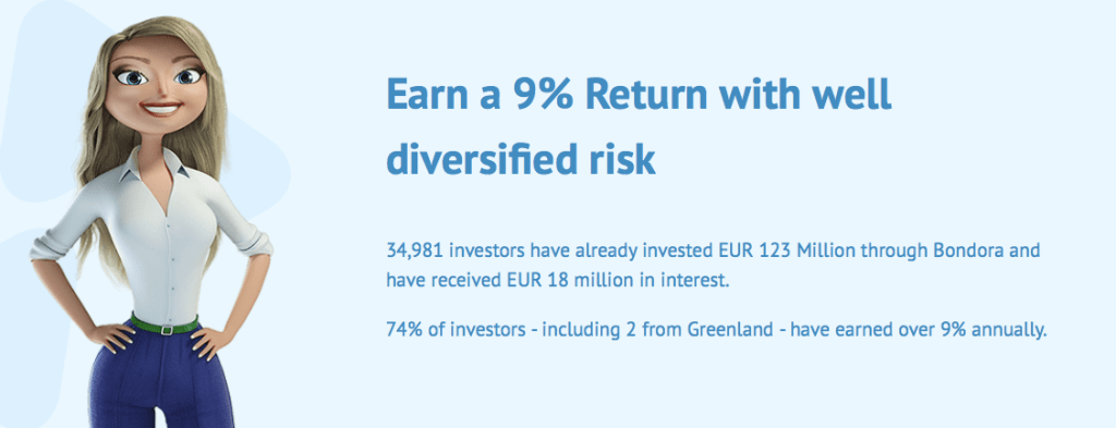 If you are looking for returns at above 9%, which is their current annual average and would like to try P2P crowdlending, Bondora is a good choice.