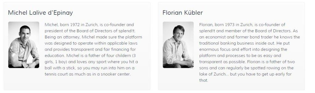 The company was founded by two bankers, Florian Kübler who is the head of Structured Products Sales at ZKB and Michel Lalive d'Epinay who is Head Cross Products Compliance at UBS.